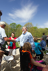 10 May 2014:  Garrett Scott at 25th anniversary celebration of the Constitution Trail ceremony at Connie Link Amphitheater in Normal Illinois