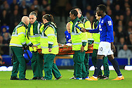 Steven Naismith of Everton is stretchered off - Everton vs. West Ham United - Barclay's Premier League - Goodison Park - Liverpool - 22/11/2014 Pic Philip Oldham/Sportimage