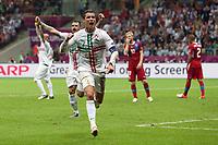 Football - European Championships 2012 - Czech Republic vs. Portugal<br /> Christiano Ronaldo of Portugal celebrates scoring at the National Stadium, Warsaw
