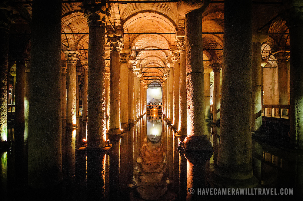 The cistern, located 500 feet of the Hagia Sophia on the historical peninsula of Sarayburnu, was built in the 6th century during the reign of Byzantine Emperor Justinian I.