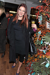 VICTORIA AITKEN at the Linley Christmas party at Linley, 60 Pimlico Road, London on 20th November 2012.