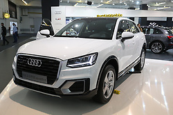 05.04.2016, Zagreb, CRO, Zagreb Auto Show, im Bild Audi Q2 // Press day at Zagreb fair before official opening of Zagreb Auto Show at Zagreb, Croatia on 2016/04/05. EXPA Pictures © 2016, PhotoCredit: EXPA/ Pixsell/ Dalibor Urukalovic<br /> <br /> *****ATTENTION - for AUT, SLO, SUI, SWE, ITA, FRA only*****