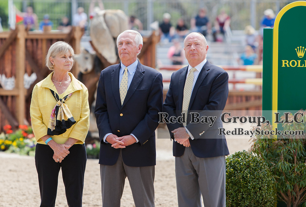 Governor of Kentucky, Stephen Beshear, First Lady, Jane Beshear and Rolex Watch USA President and CEO, Stewart Wicht at the 2014 Rolex Kentucky Three-Day Event held at the Kentucky Horse Park in Lexington, KY.