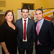 08.12.2016                   <br /> Pictured at the launch of the Shannon Airport Christmas Racing Festival at Hunt Museum were, Karen Shanahan, Limerick Racecourse , Liam Aherne, Live 95 and Conor O'Neill, Limerick Racecourse. Picture: Alan Place