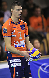 Alen Pajenk of ACH Volley at volleyball match of CEV Indesit Champions League Men 2008/2009 between ACH Volley Bled (SLO) and Beauvais Oise (FRA), on December 11, 2008 in Hala Tivoli, Ljubljana, Slovenia. (Photo by Vid Ponikvar / Sportida)