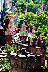 August 15, 2017 - Chongqin, Chongqin, China - Chongqing, CHINA-August 15 2017: (EDITORIAL USE ONLY. CHINA OUT) Western-styled 'castles' can be seen at a wonderland-themed factory in southwest China's Chongqing, making people feel like entering the world of fairy tale. (Credit Image: © SIPA Asia via ZUMA Wire)
