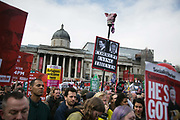 Peoples Assembly March for Health, Homes, Jobs and Education. End Austerity Now! march 16th April 2016 in London, United Kingdom. 50.000 thousand plus turned out to protest against the Conservative Government and their austerity policies and against tax evasions revealed in the Panama Papers.