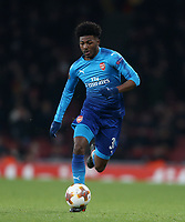 Arsenal's Ainsley Maitland-Niles<br /> <br /> Photographer Rob Newell/CameraSport<br /> <br /> UEFA Europa League Round of 32 2nd Leg Arsenal v Ostersunds FK - Thursday 22nd February 2018 - The Emirates - London<br />  <br /> World Copyright © 2018 CameraSport. All rights reserved. 43 Linden Ave. Countesthorpe. Leicester. England. LE8 5PG - Tel: +44 (0) 116 277 4147 - admin@camerasport.com - www.camerasport.com