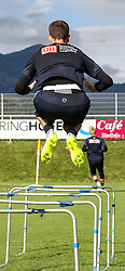 04.08.2014, Athletic Area, Schladming, AUT, Hertha BSC, im Bild Marius Gersbeck (Hertha BSC, #35) bei Sprunguebungen // during a training session of the German Bundesliga Club Hertha BSC at the Athletic Area, Austria on 2014/08/04. EXPA Pictures © 2014, PhotoCredit: EXPA/ Martin Huber