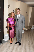 LOUISE REDKNAPP; JAMIE REDKNAPP, The Tomodachi ( Friends) Charity Dinner hosted by Chef Nobu Matsuhisa in aid of the Unicef  Japanese Tsunami Appeal. Nobu Berkeley St. London. 5 May 2011. <br /> <br />  , -DO NOT ARCHIVE-© Copyright Photograph by Dafydd Jones. 248 Clapham Rd. London SW9 0PZ. Tel 0207 820 0771. www.dafjones.com.
