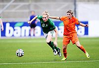 Fotball , 24. juli 2014 , U19 Women , Netherlands - Ireland<br /> Nederland - Irland<br /> <br /> Megan Connolly , IRL<br /> Laura Strik , NED