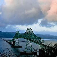 Astoria-Meglar bridge in Astoria, OR.