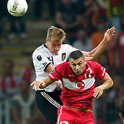 Turkey's Burak YILMAZ (F) during their UEFA EURO 2012 Qualifying round Group A matchday 19 soccer match Turkey betwen Germany at TT Arena in Istanbul October 7, 2011. Photo by TURKPIX