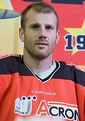 Conny Stromberg, member of HK Acroni Jesenice ice-hockey team for season 2008/2009 at official photo shooting in Arena Podmezaklja, Jesenice, on September 24, 2008. (Photo by Vid Ponikvar / Sportal Images)