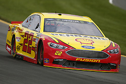 June 1, 2018 - Long Pond, Pennsylvania, United States of America - Joey Logano (22) brings his car through the turns during practice for the Pocono 400 at Pocono Raceway in Long Pond, Pennsylvania. (Credit Image: © Chris Owens Asp Inc/ASP via ZUMA Wire)