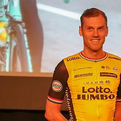 22-12-2017: Wielrennen: Presentatie Lotto Jumbo: Veghel <br />Lars Boom mist de geplande start van het seizoen in de Tour Down Under. De Brabander vertelde op de presentatie van LottoNL-Jumbo in Veghel dat hem een operatie wacht.
