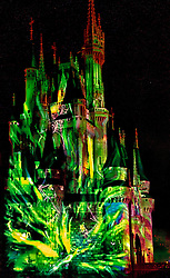 The castle during the Halloween festivities.