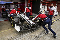 February 20, 2019 - Barcelona, Spain - RAIKKONEN Kimi (fin), Alfa Romeo Racing C38, garage, box, during Formula 1 winter tests from February 18 to 21, 2019 at Barcelona, Spain - Photo  /  Motorsports: FIA Formula One World Championship 2019, Test in Barcelona, (Credit Image: © Hoch Zwei via ZUMA Wire)