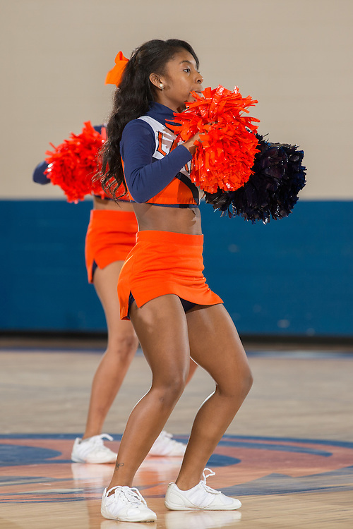 Dec. 3, 2014; Morrow, GA, USA; CSU's cheerleaders in action against Fort Valley State at CSU. Clayton State won 87-73. Photo by Kevin Liles / kevindliles.com