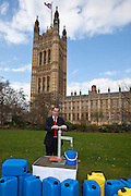 Bill Esterson  MP. Marking World Water Day, over 40 MP's walked for water at Westminster, London at an event organised by WaterAid and Tearfund. Globally hundreds of thousands of people took part in the campaign to raise awareness of the world water crisis.