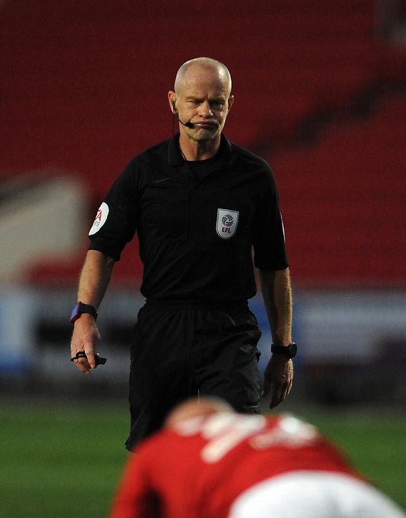 Referee Andy Woolmer during the game<br /> <br /> Photographer Ian Cook/CameraSport<br /> <br /> The EFL Sky Bet Championship - Bristol City v Preston North End - Wednesday July 22nd 2020 - Ashton Gate Stadium - Bristol <br /> <br /> World Copyright © 2020 CameraSport. All rights reserved. 43 Linden Ave. Countesthorpe. Leicester. England. LE8 5PG - Tel: +44 (0) 116 277 4147 - admin@camerasport.com - www.camerasport.com