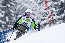 Slivnik Jernej of Slovenia during Slalom race at 2019 World Para Alpine Skiing Championship, on January 23, 2019 in Kranjska Gora, Slovenia. Photo by Matic Ritonja / Sportida