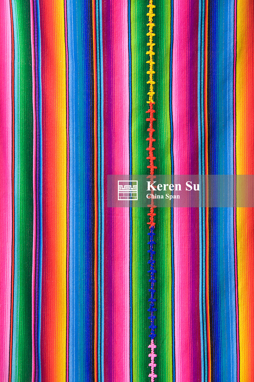 Colorful fabric, Merida, Yucatan State, Mexico