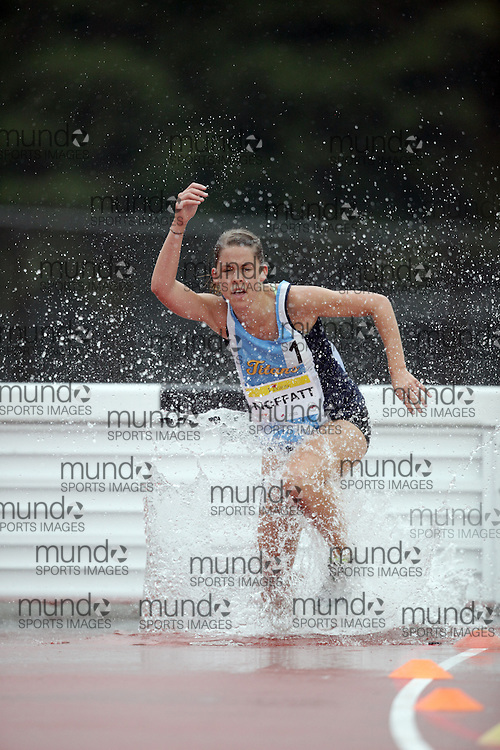 Ottawa, Ontario ---10-08-08--- Moffatt competes in the steeplechase at the 2010 Royal Canadian Legion Youth Track and Field Championships in Ottawa, Ontario August 8, 2010..JULIE ROBINS/Mundo Sport Images.