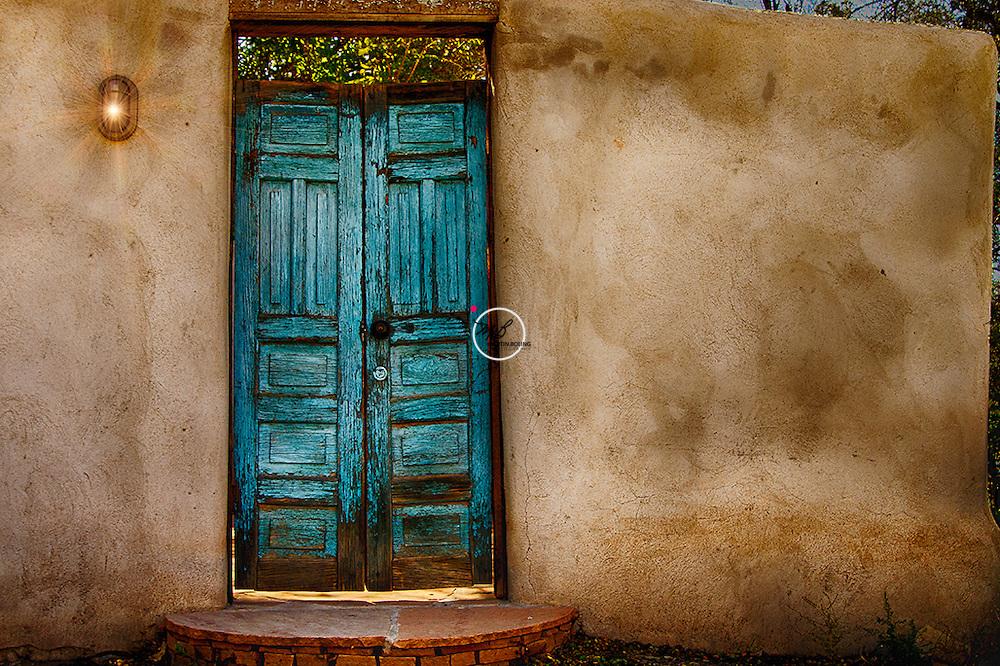 Adobe Wall n Door New Mexico