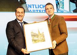04.03.2017, AUT, FPÖ, 32. Ordentlicher Bundesparteitag, im Bild v.l.n.r. Heinz Christian Strache und Gernot Darmann //  at the 32nd Ordinary Party Convention of the Freiheitliche Partei Oesterreich (FPÖ) in Klagenfurt, Austria on 2017/03/04. EXPA Pictures © 2017, PhotoCredit: EXPA/ Wolgang Jannach