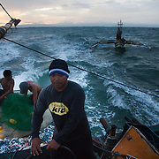 Captain Joan heads for deeper waters to trawl for fish of the coast of Hinigaran. The crew consists of 4 members, Abelino, Rene, RJ and 17 year old Joseph.  <br /> <br /> Joseph attends Alternative Learning Systems once / week facilitated by Quidan to be able to graduate. Quidan-Kaisahan is a charity working in Negros Occidental in the Philippines. Their aim is to keep children out of work to secure them education.
