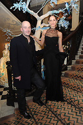 ROSEMARY FERGUSON and JAKE CHAPMAN at the launch of the Claridge's Christmas Tree designed by John Galliano for Dior held at Claridge's, Brook Street, London on 1st December 2009.