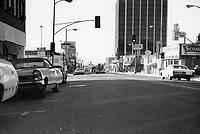 1971 Looking south on Cahuenga Blvd. at Selma Ave.