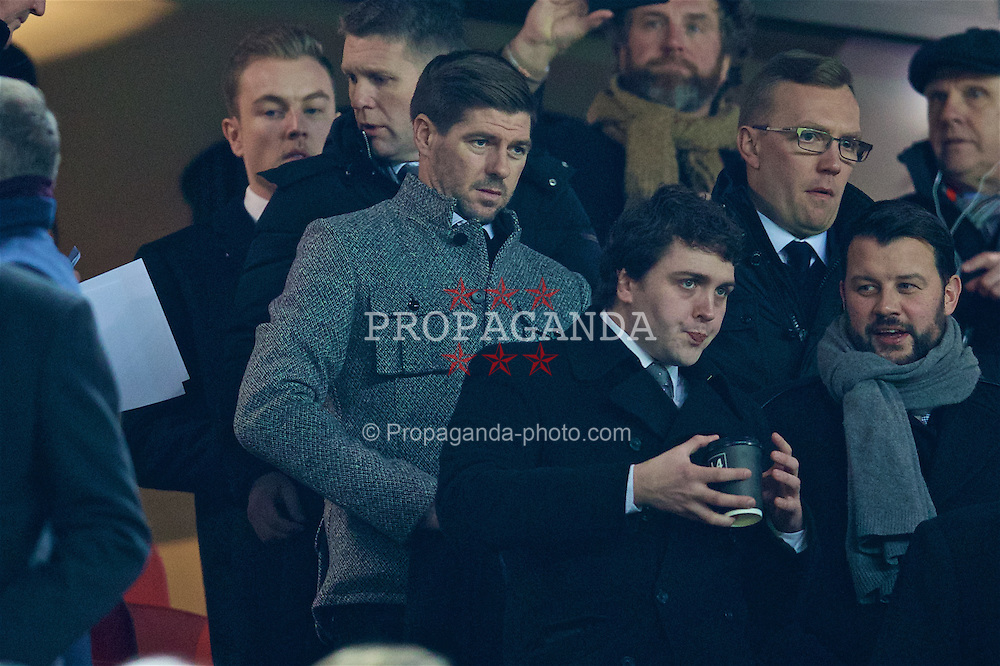 LIVERPOOL, ENGLAND - Tuesday, November 29, 2016: Former Liverpool player Steven Gerrard during the Football League Cup Quarter-Final match between Liverpool and Leeds United at Anfield. (Pic by David Rawcliffe/Propaganda)