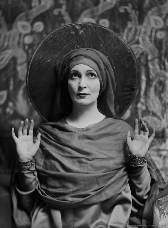 Lady Hazel Lavery, artist and socialite, wife of Sir John Lavery, Ireland, 1916