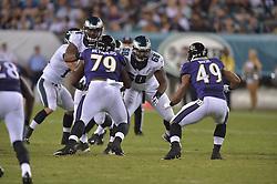 Josh Andrews #68 of the Philadelphia Eagles against the Baltimore Ravens at Lincoln Financial Field on August 22, 2015 in Philadelphia, Pennsylvania. (Photo by Drew Hallowell/Philadelphia Eagles)