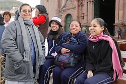 Students In Plaza De Armas