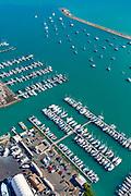 Honolulu; Oahu; Hawaii; aerial; downtown; USA