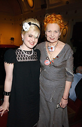 Left to right, KELLY OSBOURNE and VIVIENNE WESTWOOD at the launch of 'Grand Classics:Films with Style' series in London hosted by Vivienne Westwood at The Electric Cinema, Portobello Road, London W11 on 20th March 2006.<br />