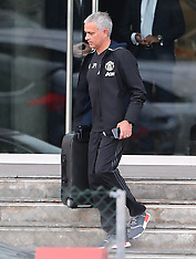 Manchester- Jose Mourinho Sighted Leaving the Hotel - 22 Sep 2016