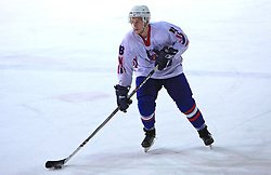Anze Florjancic at friendly ice-hockey game between Slovenian National Team U20 and HKMK Bled, before World Championship Division 1, Group A in Herisau, Switzerland, on December 11, 2008, in Bled, Slovenia. (Photo by Vid Ponikvar / Sportida)