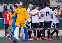 AMSTELVEEN -  Sander van Berkel (Tilburg)  tijdens de hockey hoofdklasse competitiewedstrijd  heren, Amsterdam-HC Tilburg (3-0).  COPYRIGHT KOEN SUYK