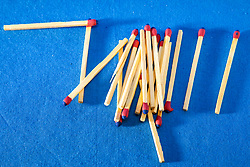Strike anywhere wooden match sticks