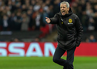 Football - 2018 / 2019 UEFA Champions League - Round of Sixteen, First Leg: Tottenham Hotspur vs. Borussia Dortmund<br /> <br /> Lucien Favre, Manager of Borussia Dortmund, shows his frustration at his teams performance at Wembley Stadium.<br /> <br /> COLORSPORT/DANIEL BEARHAM