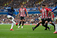 Football - 2021 / 2022 Premier League - Everton vs Southampton - Goodison Park - Saturday 14th August 2021.<br /> <br /> Everton's Abdoulaye Doucoure  scores his sides second goal <br /> <br /> <br /> <br /> Credit COLORSPORT/Terry Donnelly
