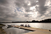Caversham, Reading, Berks, ENGLAND, ..Official opening Redgrave Pinsent Rowing Lake and Sheriff Boathouse, By, Sirs' Matt Pinsent [left] and Steven Redgrave, 29.04.2006 © Peter Spurrier / Intersport images..GBR M4- after training session on the lake...'New 13 millon pounds British International Rowing Trianing facility at Caversham Lake' .