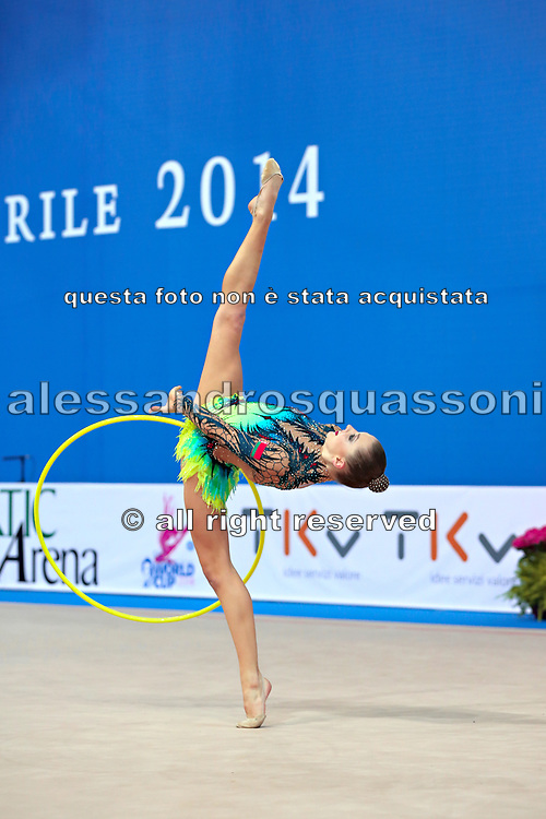 Melitina Staniouta born 15 November 1993, is a Belarusian retired individual rhythmic gymnast.