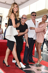Simon Cowell receives a star on the Hollywood Walk of Fame. 22 Aug 2018 Pictured: Heidi Klum,Howie Mandel,Simon Cowell,Melanie Brown. Photo credit: AXELLE/BAUER-GRIFFIN / MEGA TheMegaAgency.com +1 888 505 6342