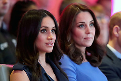 Meghan Markle (left) and the Duchess of Cambridge during the first Royal Foundation Forum in central London.