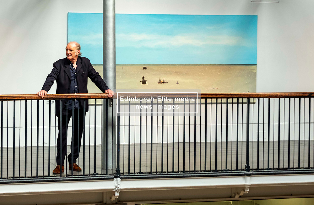 Pictured: Jock McFadyen<br /><br />Artist Jock McFadyen's 70th birthday year is being celebrated with his Lost Boat Party exhibition at the Dovecot Studios, Edinburgh, (in partnership with The Scottish Gallery), of recent paintings which describe the romance and grandeur of the Scottish landscape, alongside the urban dystopia for which the artist is known<br />Ger Harley | EEm 10 June 2021